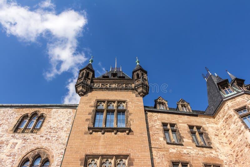 Замок в Wernigerode в Германии стоковые фотографии rf