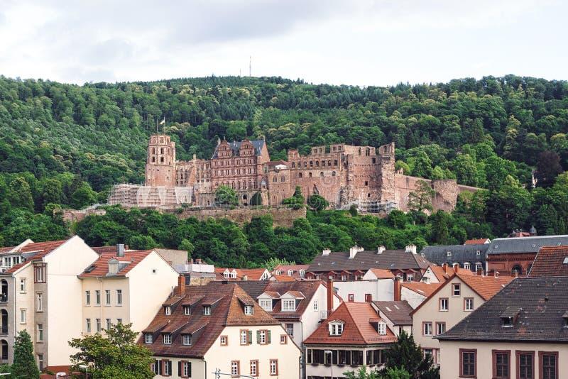 Замок Гейдельберга ренессанса в Германии стоковая фотография rf