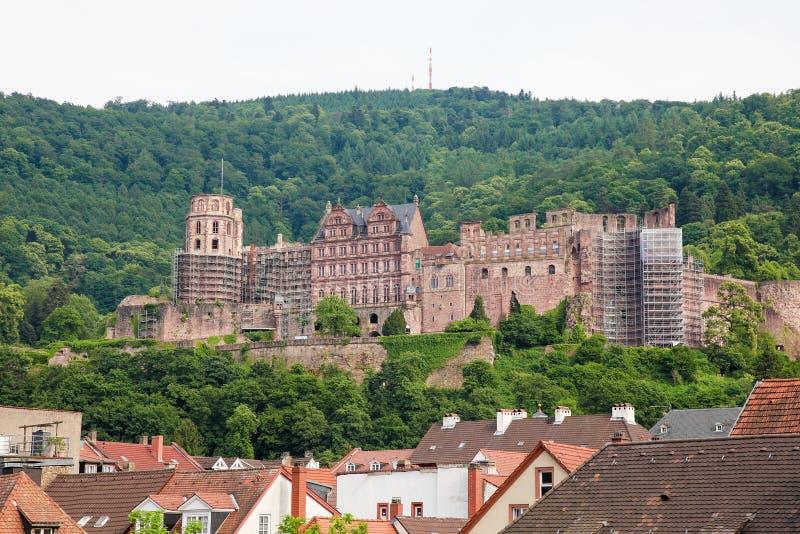 Замок Гейдельберга стоковые фотографии rf