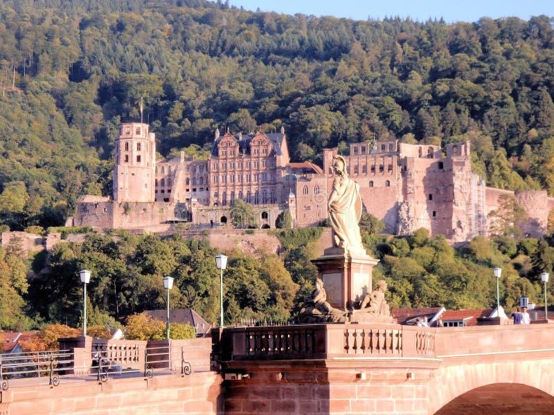 Замок Гейдельберга - Heidelberger Schloss - архитектурноакустический шедев𠆫Германии ренессанса стоковое фото