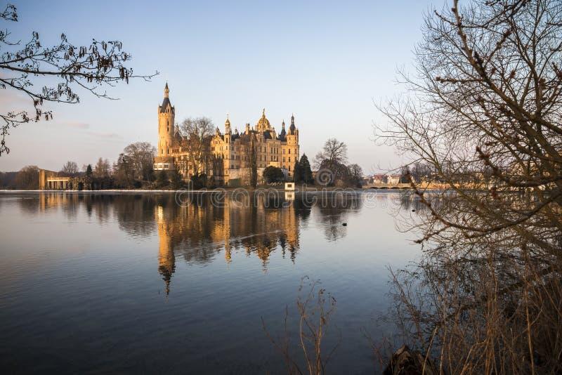 замок Германия schwerin стоковое изображение