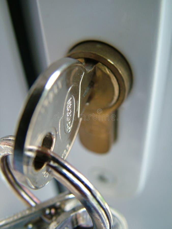 замок деталей ключевой стоковое фото rf