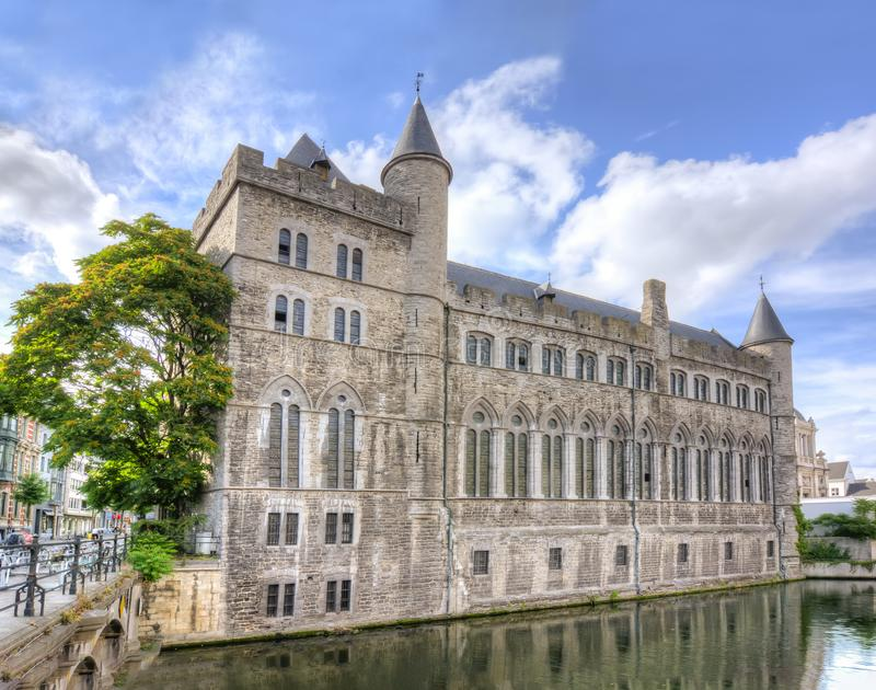 Замок Джеральда дьявол Geeraard de Duivelsteen, Gent, Бельгия стоковые изображения rf