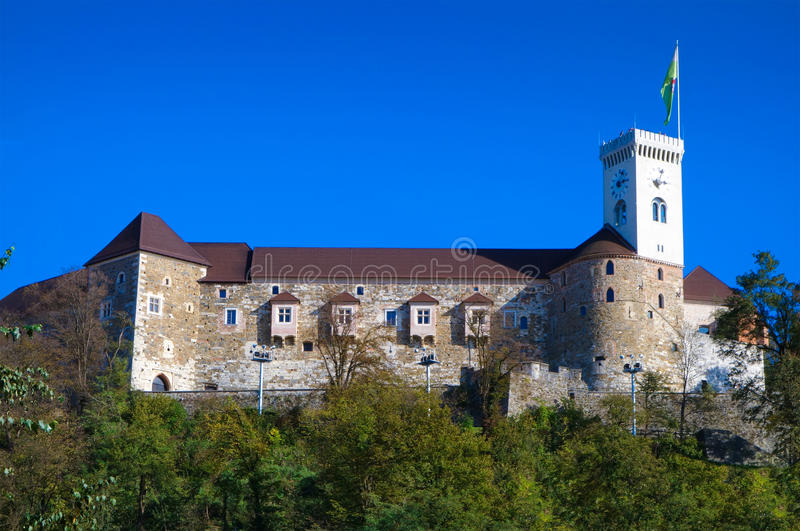 замок европа ljubljana Словения стоковая фотография