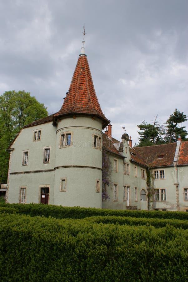 Замок звероловства отсчета Schonborn в Carpaty стоковое изображение rf