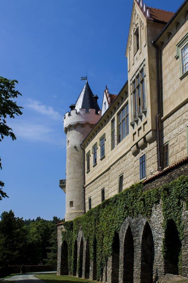 Замок и башня Zleby стоковое изображение rf
