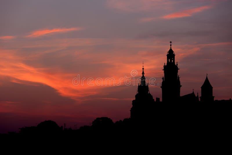 Замок и собор Wawel королевские в Кракове стоковая фотография rf