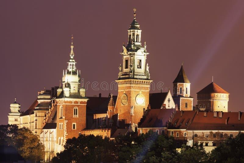 Замок и собор Wawel королевские стоковая фотография