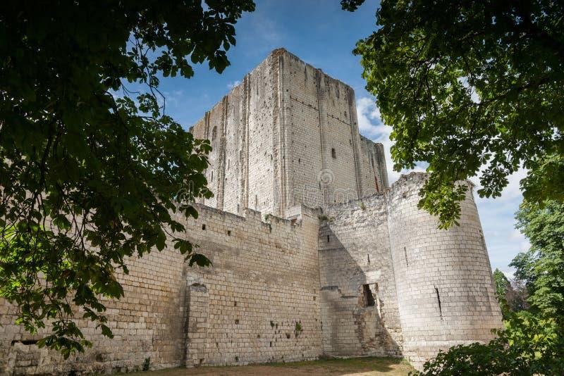 Замок и donjon французского города loches, Франции, Луары va стоковая фотография