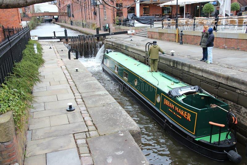 Замок канала Манчестера стоковое фото