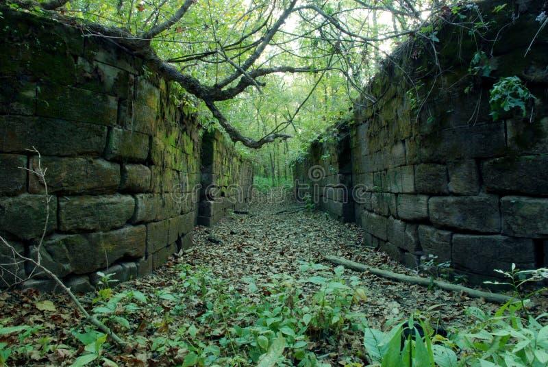 замок канала старый стоковая фотография