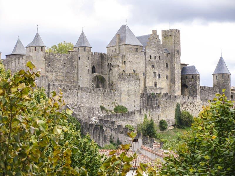 Замок Каркассона стоковое изображение rf