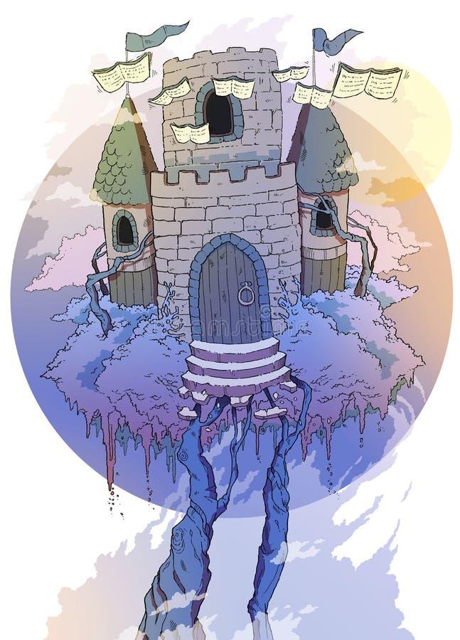 Замок книг стоковая фотография