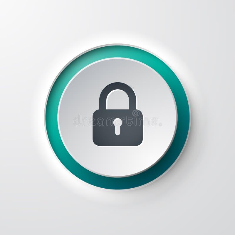 Замок кнопки значка сети бесплатная иллюстрация