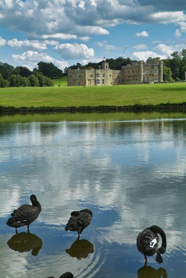 Замок Лидс в Майдстоуне, Кент, Англия стоковое фото rf