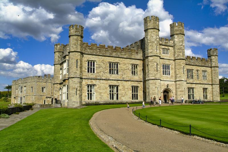 Замок Лидс,Майдстоун,Кент, Англия стоковые изображения