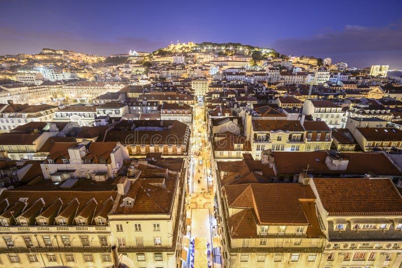 Замок Лиссабона, Португалии стоковые фотографии rf