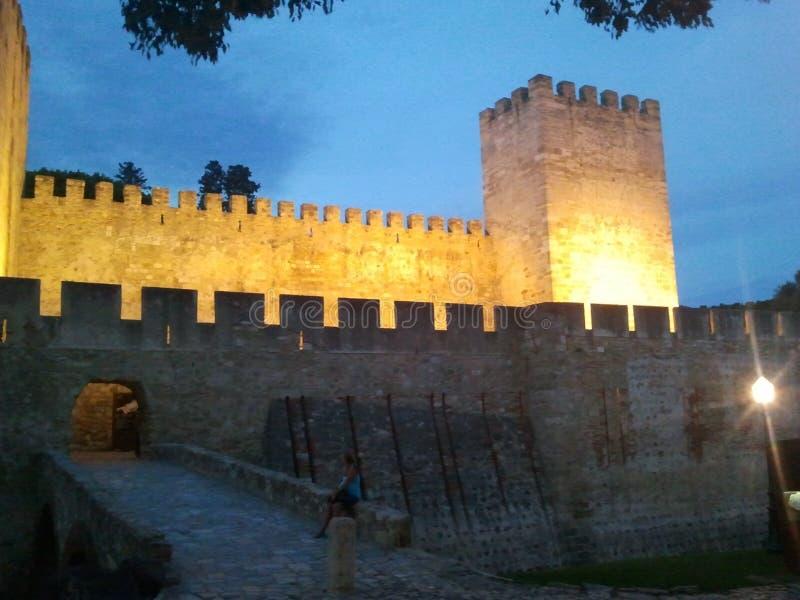 Замок Лиссабона стоковое фото rf