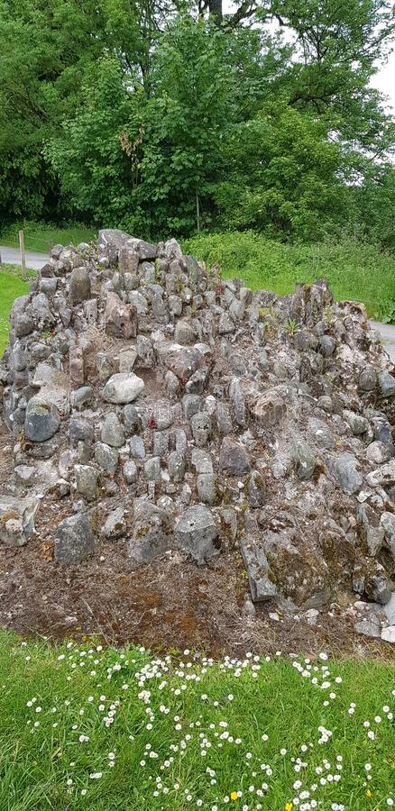Замок Лохмабен Шотландия стоковое изображение rf