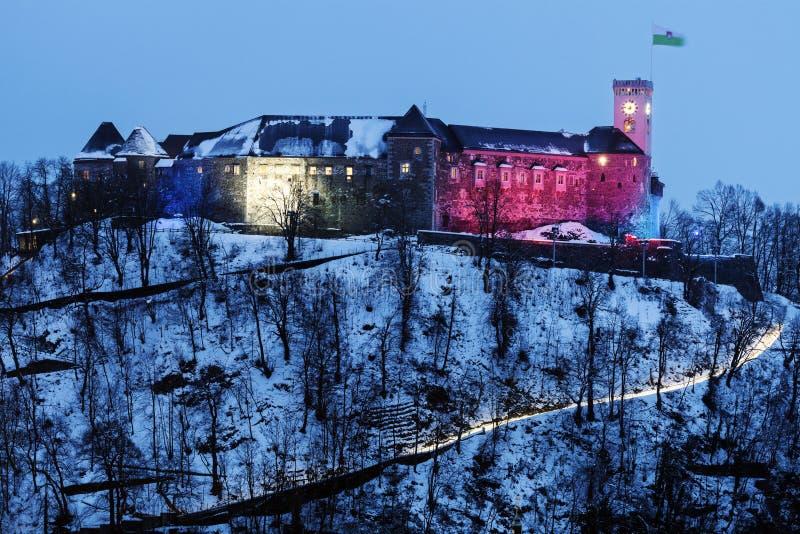Замок Любляны ljubljana Словения стоковая фотография rf