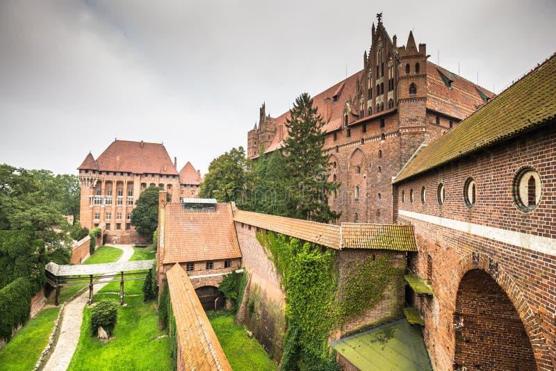 Замок Мальборк в Польше стоковая фотография rf