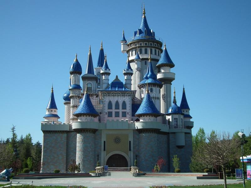 Замок мечты парка Eskisehir Sazova стоковое фото
