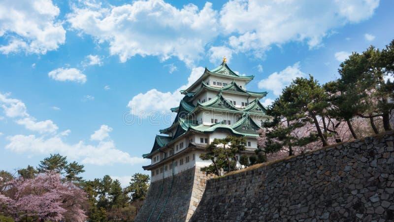 Замок Нагои красивое небо стоковое фото rf