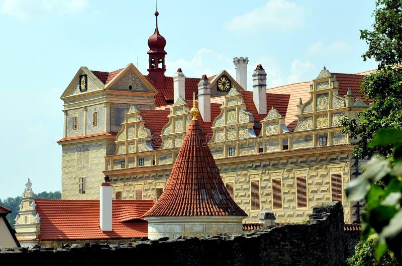 Замок на Horsovsky Tyn, чехии стоковое изображение