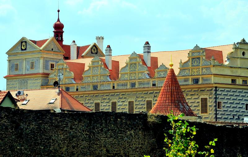 Замок на Horsovsky Tyn, чехии стоковая фотография