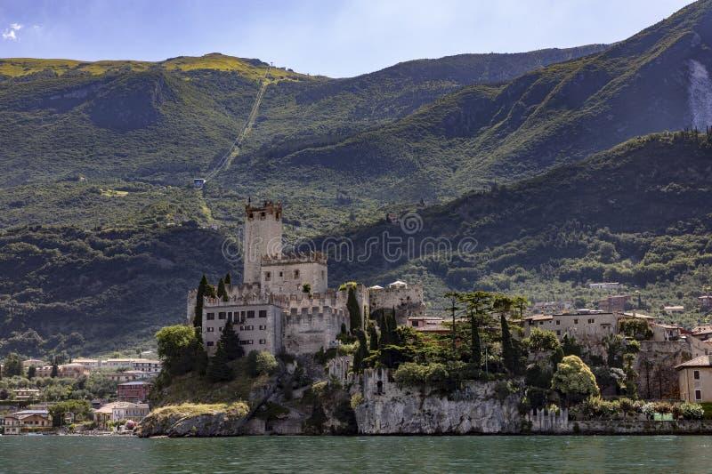 Замок на Malcesine стоковое изображение rf