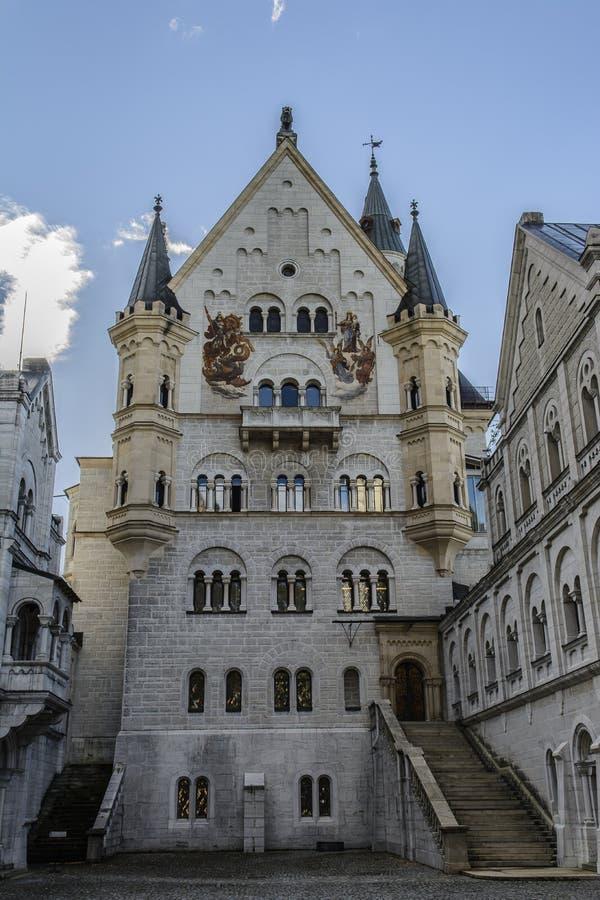 Замок Нойшванштайна в Hohenschwangau стоковые фото