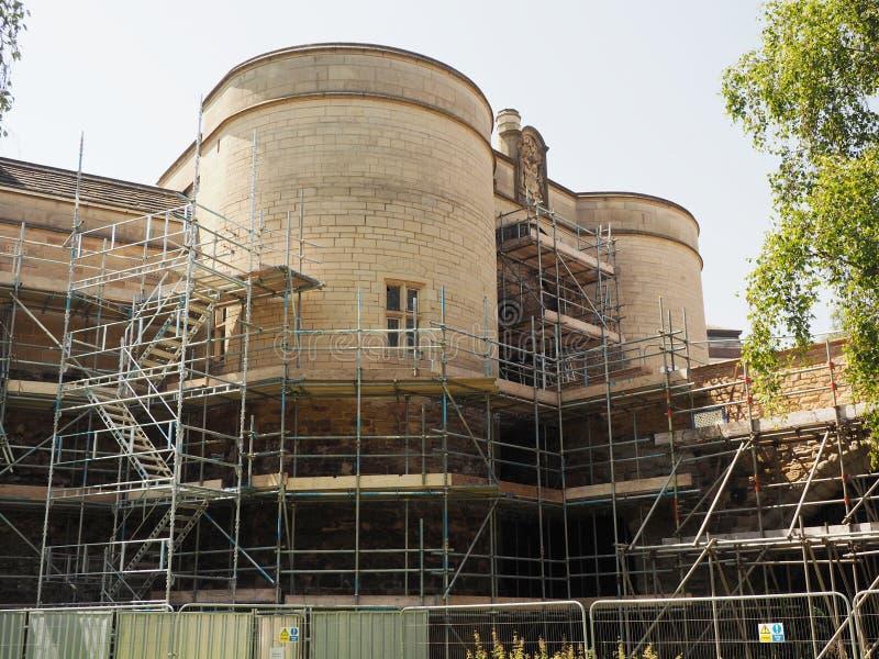 Замок Ноттингема проходя главную реконструкцию стоковые изображения
