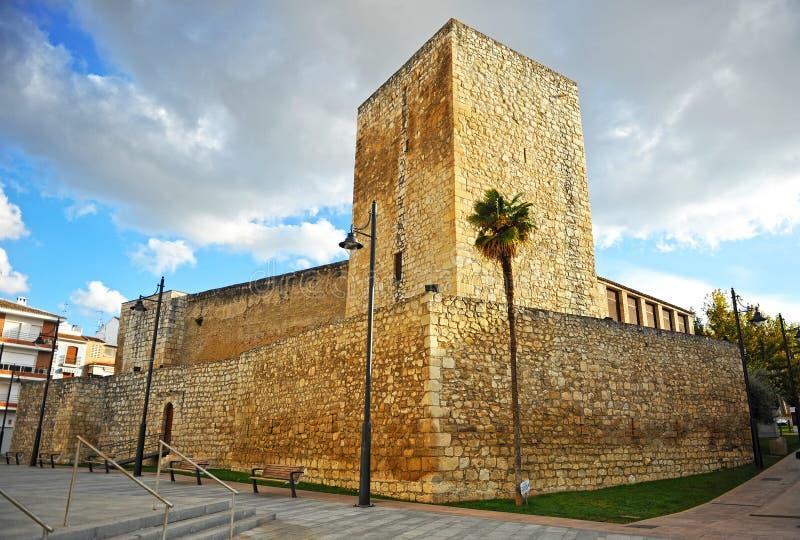 Замок нравственности в провинция Lucena, Cordoba, Андалусия, Испания стоковое фото rf