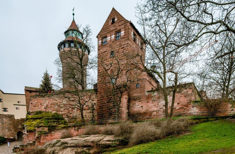 Замок Нюрнберга стоковое фото rf