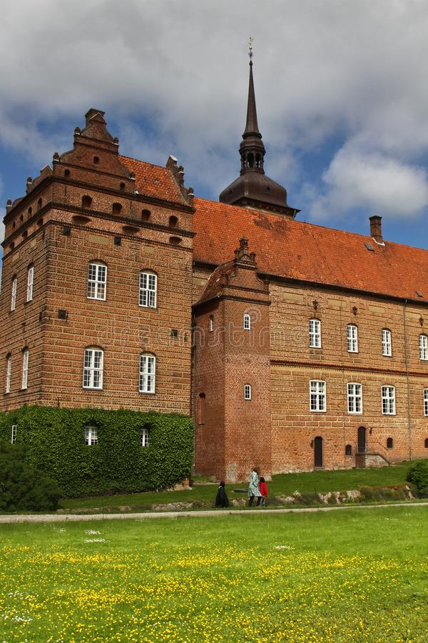 Замок около Svenborg в Дании стоковая фотография