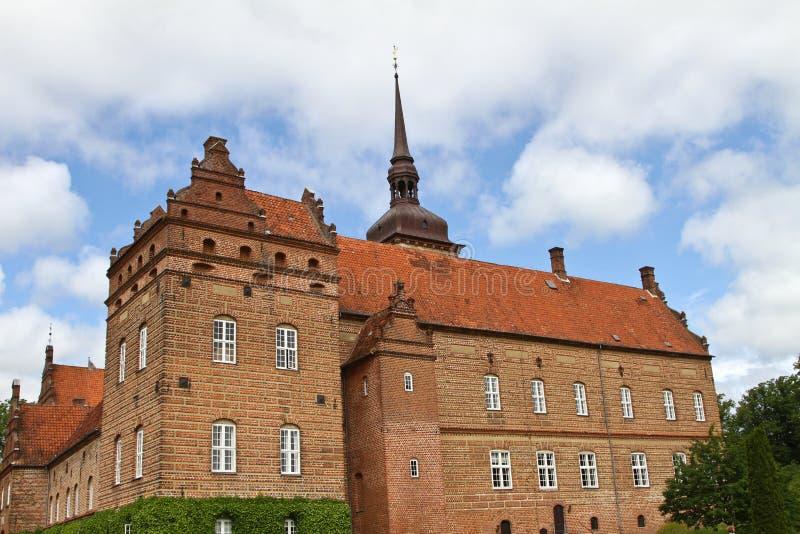 Замок около Svenborg в Дании стоковое изображение rf
