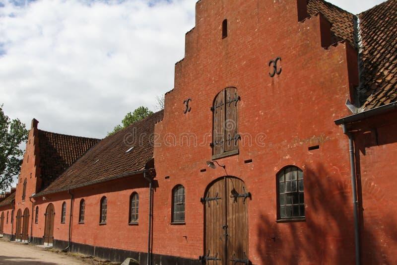 Замок около Svenborg в Дании стоковые фото