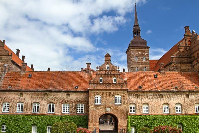 Замок около Svenborg в Дании стоковая фотография rf