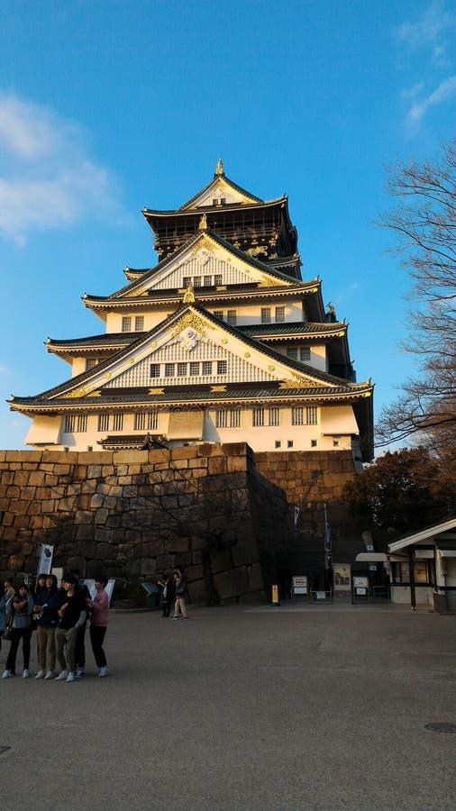 Замок Осака, дом Toyotomi Hideyoshi стоковые фото