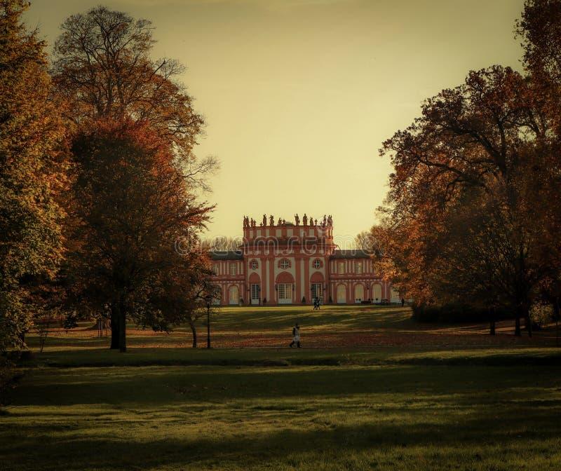 Замок осени стоковое фото rf
