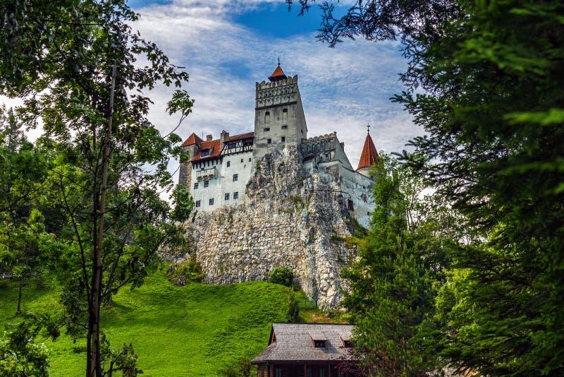 Замок отрубей в Трансильвании стоковое изображение rf