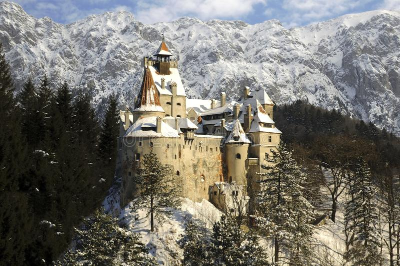 Замок отрубей Racula, Transylvania, Румыния стоковые изображения rf