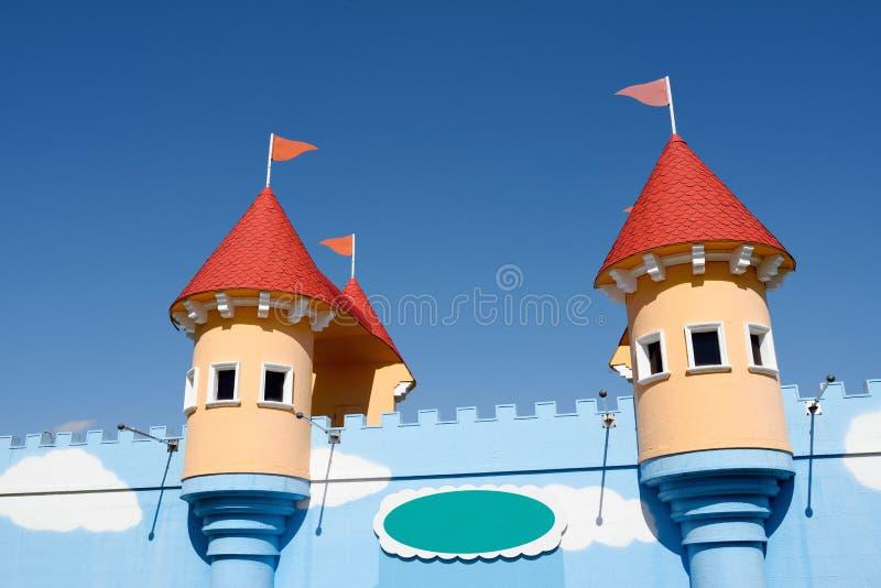 Замок парка атракционов стоковые фотографии rf