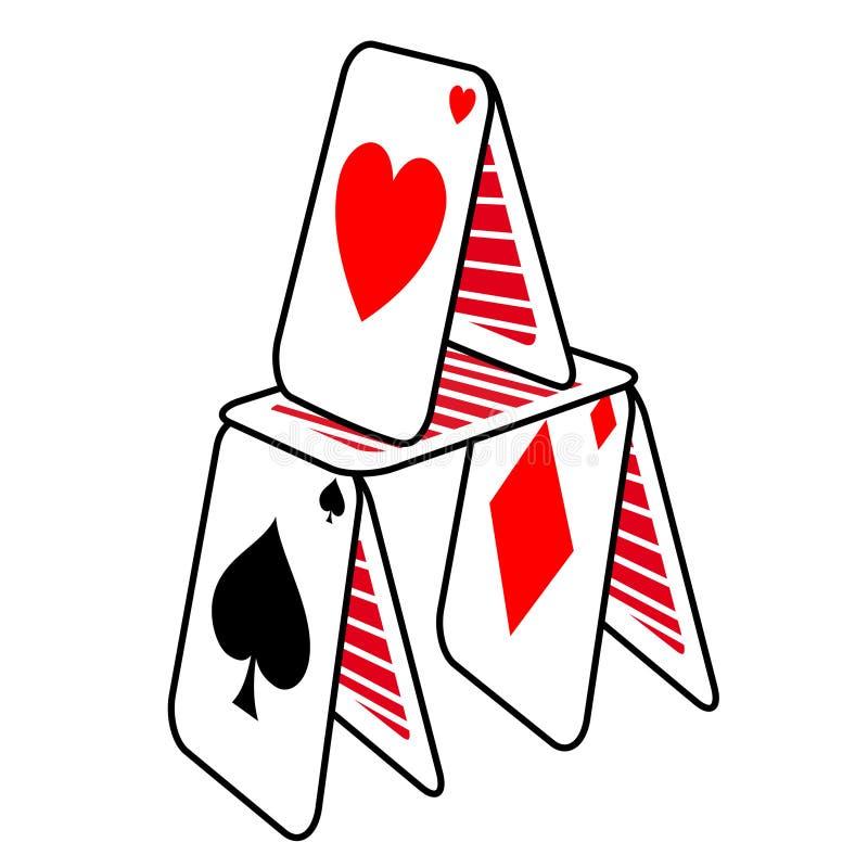 Замок покера иллюстрация штока