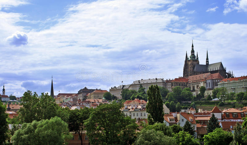 Замок Праги в чехии стоковые фотографии rf