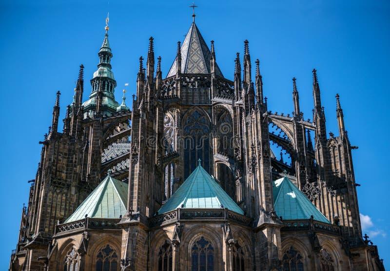 Замок Праги Praha собора St Vitus стоковая фотография rf