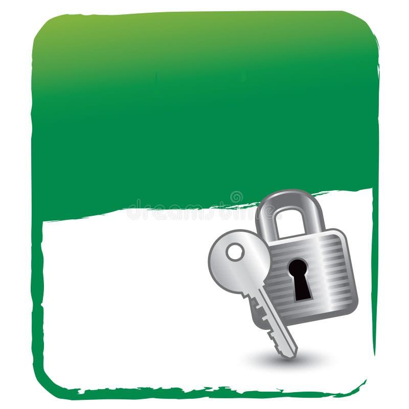 замок предпосылки зеленый ключевой иллюстрация штока