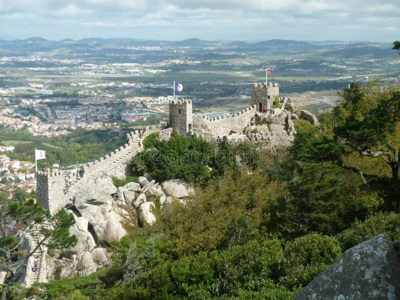 замок причаливает sintra стоковые фото