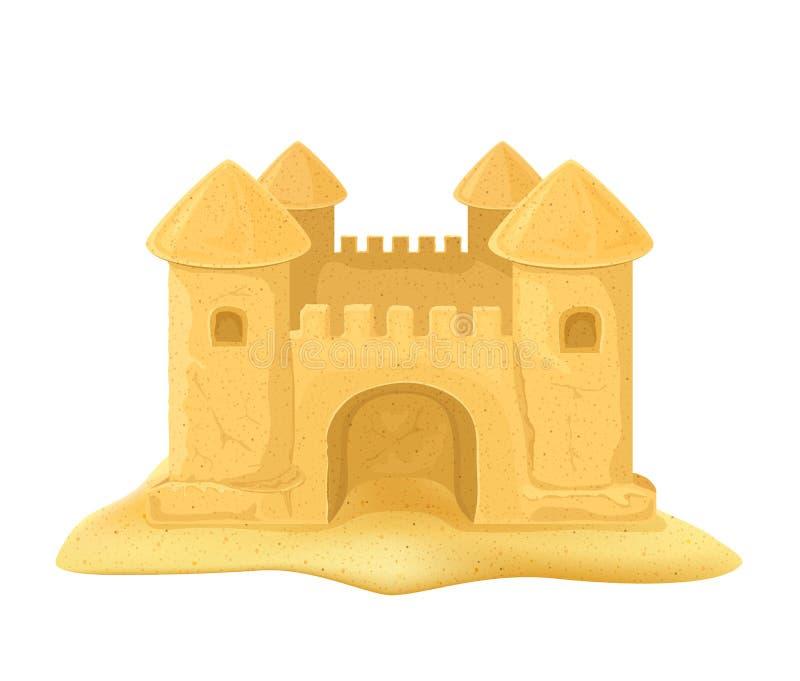 замок пляжа сделал песок изваять форму иллюстрация вектора