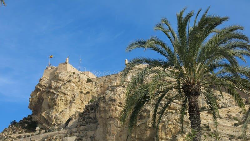 Замок Санта-Барбара, Аликанте стоковые изображения rf